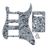 FLEOR Set of 11 Hole Strat HSH Electric Guitar Pickguard Back Plate Cover with Screws,11 Colors Available - iknmusic