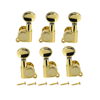 FLEOR Sealed Strings Tuning Pegs Keys Machine Heads Tuners 3L3R J05 Series Made in Korea for LP SG Guitar Parts Chrome/Black/Gold - iknmusic