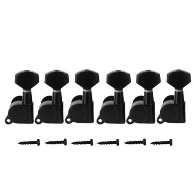 FLEOR 6pcs J07 Series 6L / 6R Electric Guitar Machine Heads Tuners 1:15 Gear Ratio Small Button Guitar Parts,Made in Korea - iknmusic