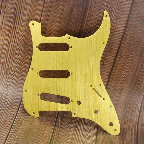 FLEOR Aluminum Metal Electric Guitar Pickguard Strat SSS | iknmusic