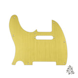 FLEOR Left Handed Aluminum Metal Pickguard Scratch Plate & Screws for Tele Style Electric Guitar - iknmusic