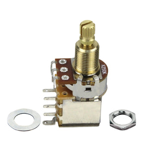 FLEOR Push Push Potentiometer Guitar Potentiometer Pot Long Shaft -A250K / B250K /A500K/B500K Available - iknmusic