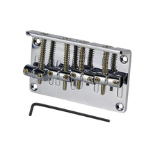 Load image into Gallery viewer, FLEOR Chrome Saddle Bass Bridge for 4 String Electric Bass Guitar ,Made in Korea - iknmusic