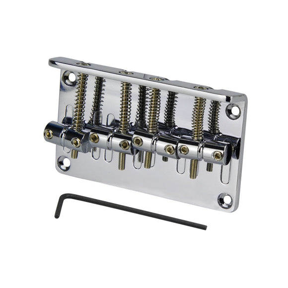 FLEOR Chrome Saddle Bass Bridge for 4 String Electric Bass Guitar ,Made in Korea - iknmusic