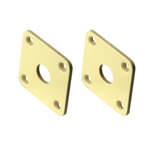 FLEOR 2PCS Plastic Electric Guitar Jack Plate Cream for LP Guitar Parts,Made in Korea - iknmusic