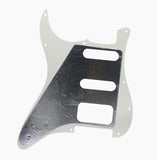 FLEOR Set of 11 Hole Strat SSH Pickguard Scratch Plate with Screws for Electric Guitar Parts ,11 Colors Available - iknmusic