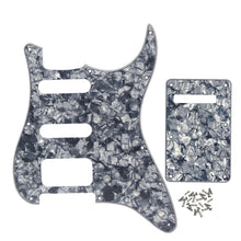 Load image into Gallery viewer, FLEOR Set of 11 Hole Strat SSH Pickguard Scratch Plate with Screws for Electric Guitar Parts ,11 Colors Available - iknmusic
