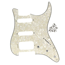 Load image into Gallery viewer, FLEOR 11 Hole Strat SSH Guitar Pickguard Scratch Plate with Screws for Guitar Accessories - iknmusic