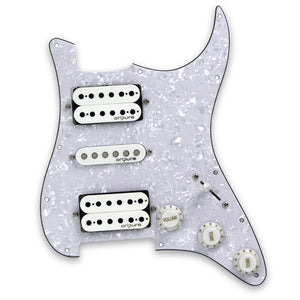 OriPure Alnico 5 Loaded Prewired Electric Guitar Pickguard HSH for 11 Hole Strat Guitar Parts - iknmusic