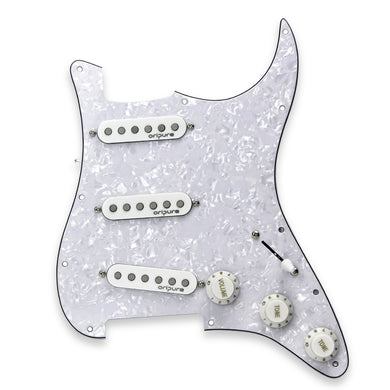 OriPure Loaded Prewired Pickguard SSS Strat with Alnico 5 Single Coil Pickups - iknmusic