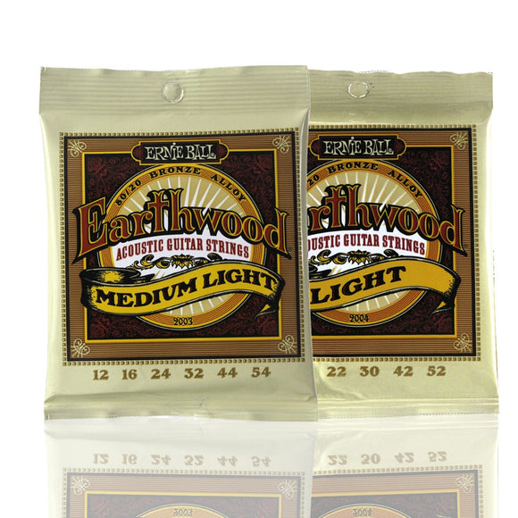 Ernie Ball Earthwood Acoustic Guitar Strings Set 80/20 Bronze Alloy PO2003/PO2004 - iknmusic