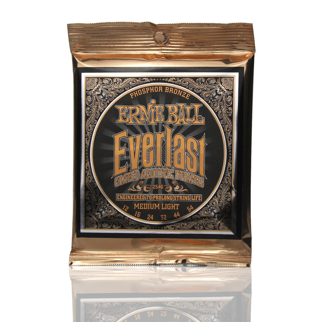 Ernie Ball Everlast Coated Phosphor Bronze Acoustic Guitar Strings Set PO2546 /PO2548 - iknmusic
