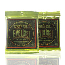 Load image into Gallery viewer, Ernie Ball Everlast 80/20 Bronze Alloy Coated Acoustic Guitar Strings Set PO2556 /PO2558 - iknmusic
