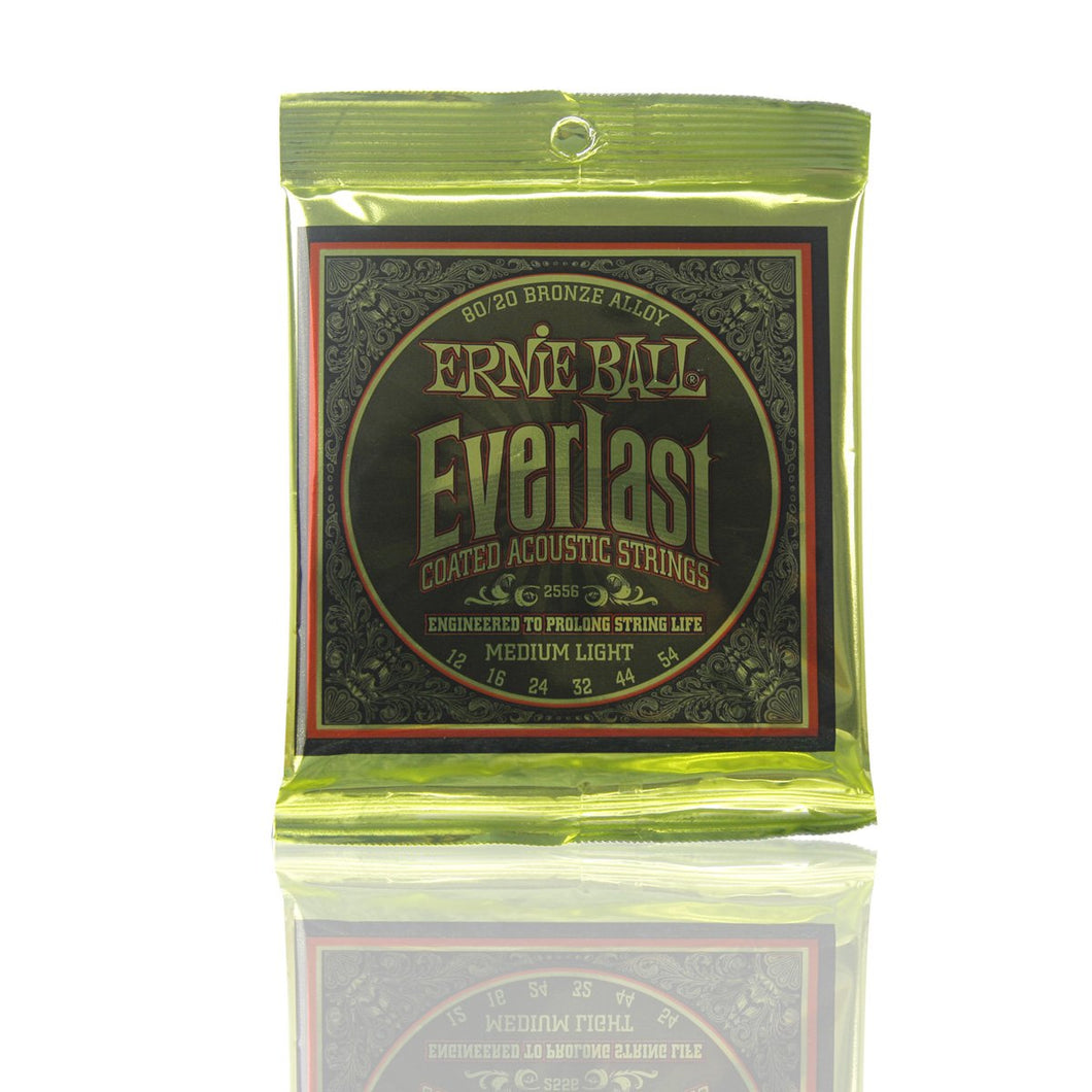 Ernie Ball Everlast 80/20 Bronze Alloy Coated Acoustic Guitar Strings Set PO2556 /PO2558 - iknmusic