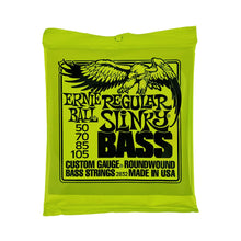 Load image into Gallery viewer, Ernie Ball Custom Gauge Regular Slinky Electric Bass Strings Set Round Wound PO2832 / PO2836 - iknmusic
