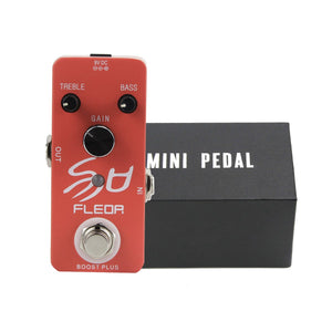 FLEOR Mini Guitar Pedal Booster Effect with True Bypass - iknmusic