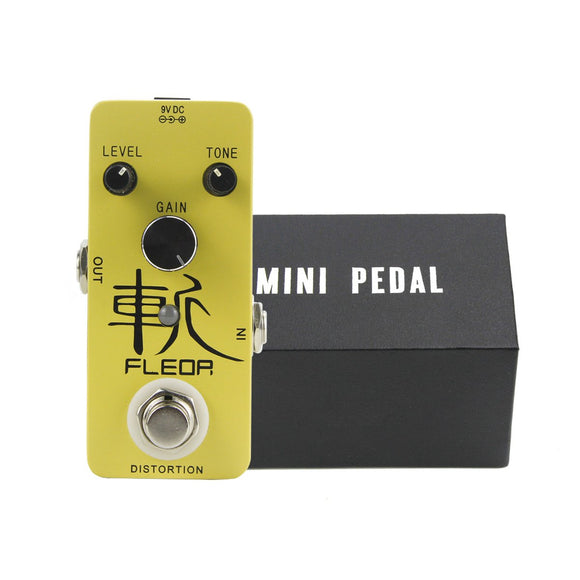 FLEOR Mini Guitar Effect Pedal Distortion Effect True Bypass Aluminum Alloy Guitar Accessories - iknmusic
