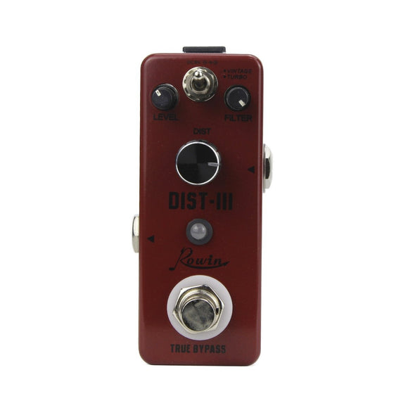 Rowin LEF-301C DIST-III Analog Distortion Effect Pedal.