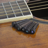FLEOR 6PCS Acoustic Guitar Bridge Pins Rosewood Bridge Pins for Acoustic Guitar Parts - iknmusic