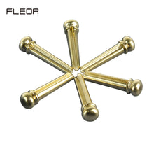 Load image into Gallery viewer, FLEOR 6PCS Acoustic Guitar Bridge Pins Brass Pins for Acoustic Guitar Bridge Parts - iknmusic