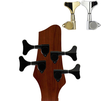 FLEOR Sealed Bass Machine Heads 2L2R Tuning Pegs Keys for Bass 4-String, Gear Ratio:1:17 - iknmusic
