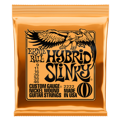Ernie Ball Hybrid Slinky Nickel Wound Electric Guitar Strings P02222