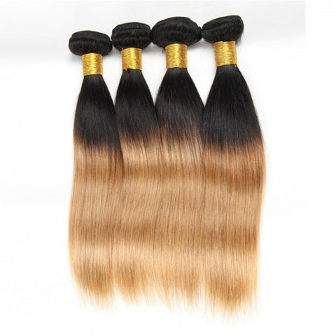 Straight Brazillian Human Hair Ombre Two Tone 3 Bundles