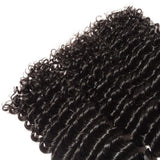 3 Bundles Deep Wave Virgin Brazilian Hair Natural Black