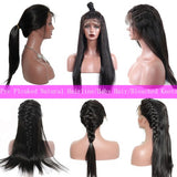 Pre-Plucked 180% Density Human Hair Straight Lace Front Wig