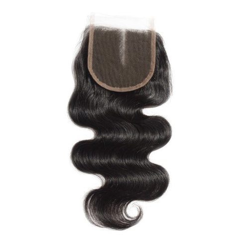 Virgin Brazilian Hair Body Wavy 4*4 Middle Part Lace Top Closure 10-20 Inch