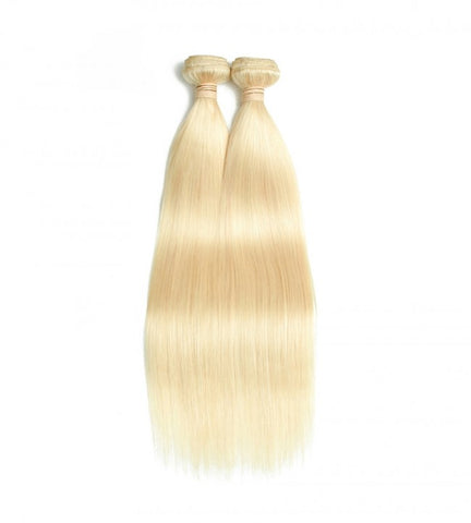 2 Bundles 613 Blonde Straight 100% Unprocessed Raw Virgin Human Hair