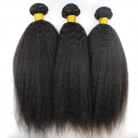 HAIRExecutive 3 Bundles Brazilian Kinky Straight 100% Raw Virgin Human Hair