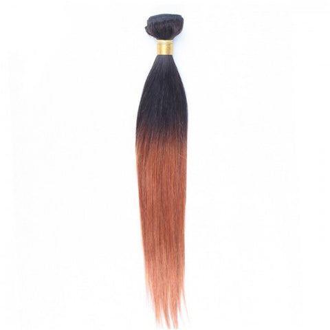 Straight Indian Remy Human Hair Two Tone Ombre #1B/30
