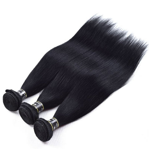 3 Bundles of Straight Peruvian Raw Virgin Human Hair