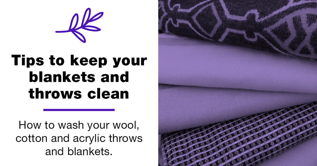Tips to keep your blankets and throws clean