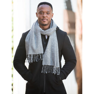 Houndstooth Twill Scarf