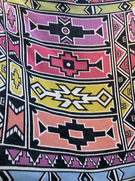 ndebele, geometric, throw, my africa, ndebele geometric, cerise pink