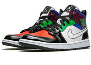 Nike Air Jordan 1 Mid SE Black White Multi-Color (W)