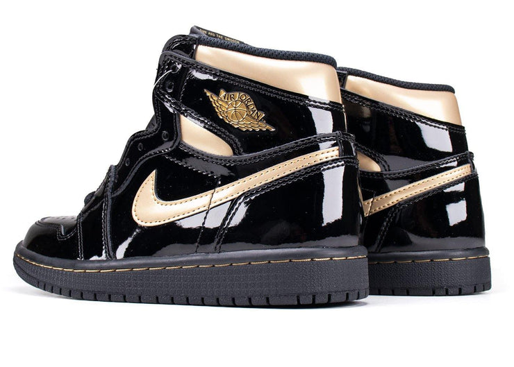 Nike Air Jordan 1 Retro High Black Metallic Gold (2020)