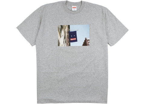Supreme Banner T-Shirt Heather Grey
