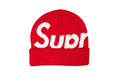 "Supreme Big Logo Beanie ""FW19"" Red"