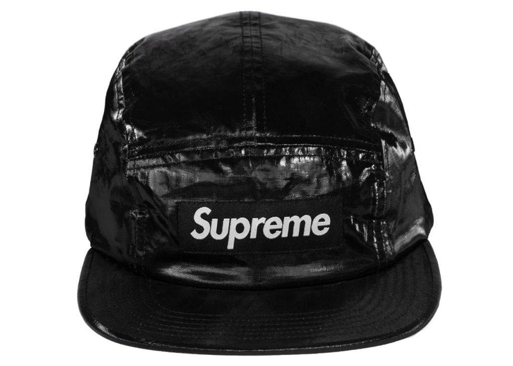 Supreme-Coated-Linen-Camp-Cap-Black
