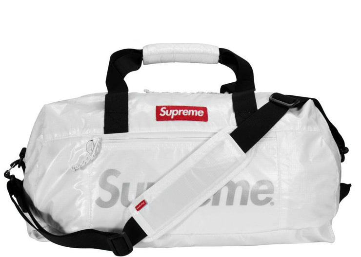 Supreme Duffel Bag white fw 17