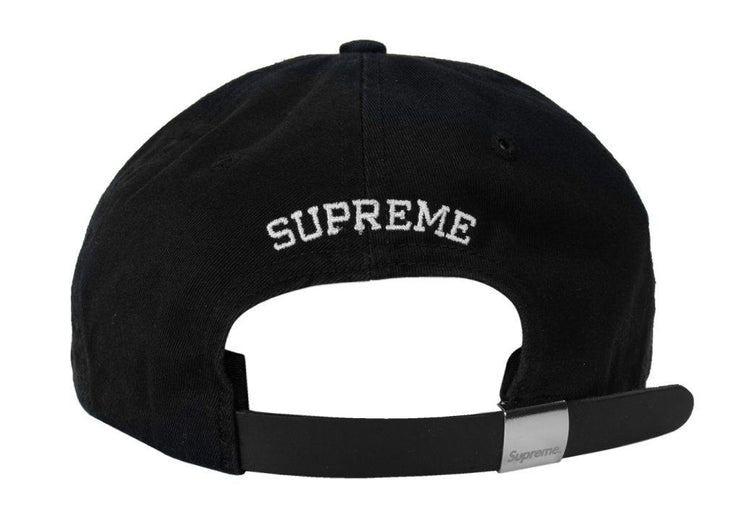 Supreme Felt S Logo 6-Panel Black Back