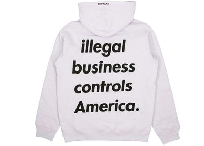 Supreme Illegal Business Controls America Hoodie Light Purple