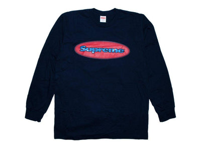 Supreme ripple l/s tee navy