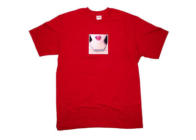 supreme necklace tee red