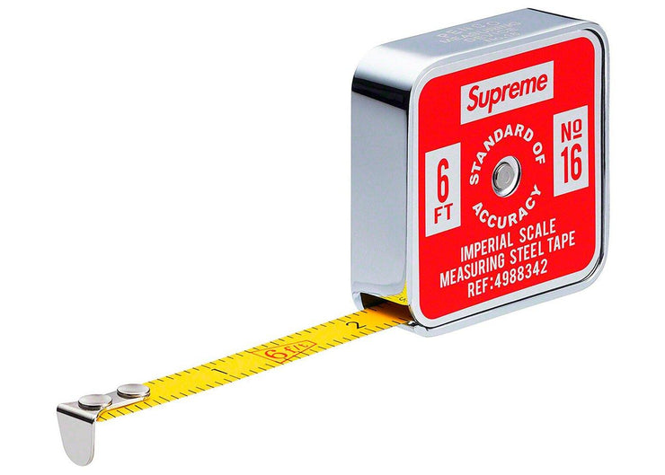 "Supreme Penco Tape Measure (Imperial) Red ""SS19"""