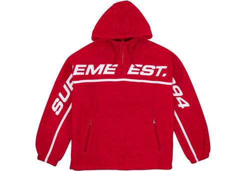 Supreme Polartec® Half Zip Hooded Sweatshirt Red