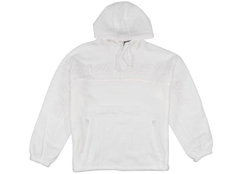 Supreme Polartec® Half Zip Hooded Sweatshirt White